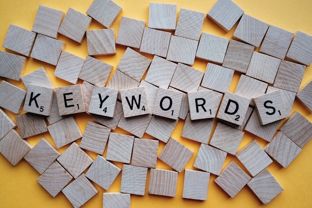 keyword selection, scrabble, word